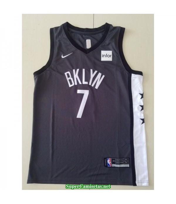 Camiseta 2020 Nets Brooklyn Kevin Durant 7 negra