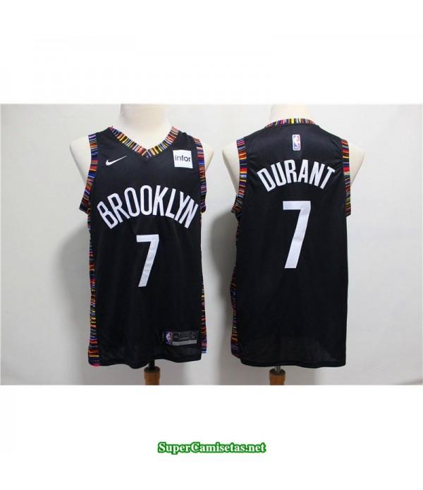 Camiseta Nets Brooklyn Kevin Durant 7 negra