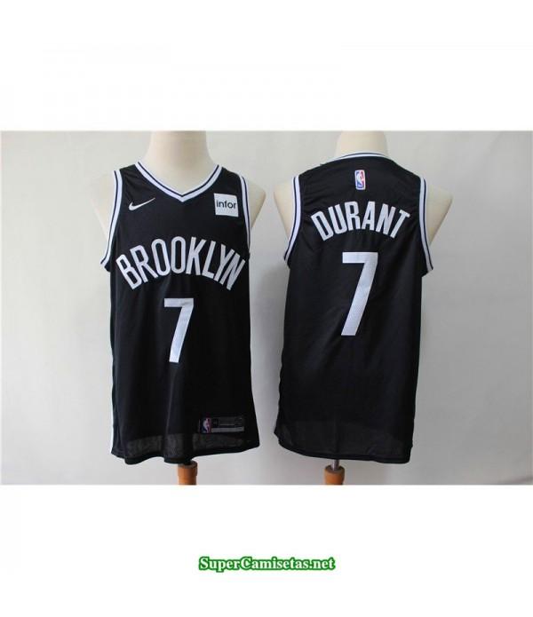 Camiseta Nets Brooklyn Kevin Durant 7 negra b