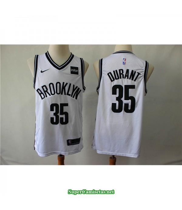Camiseta Nets Brooklyn Kevin Durant 35 blanca