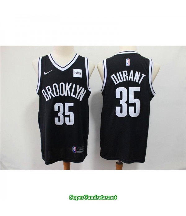 Camiseta Nets Brooklyn Kevin Durant 35 negra b