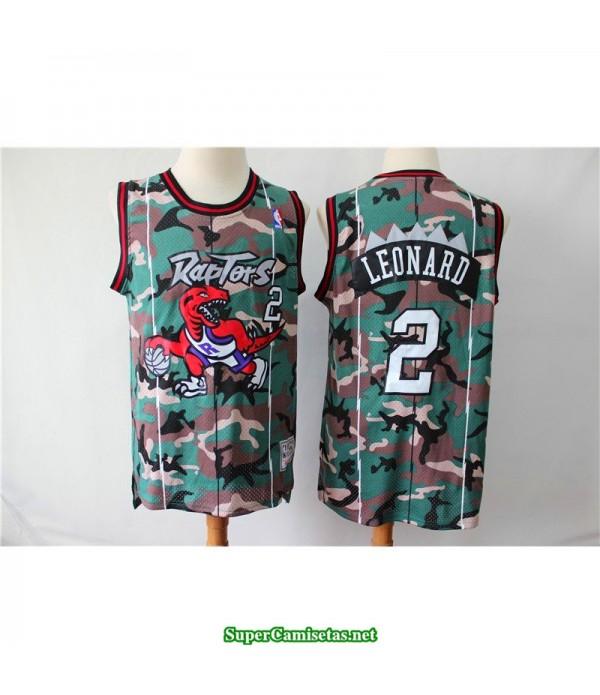 Camiseta Leonard 2 camuflaje toronto raptors b