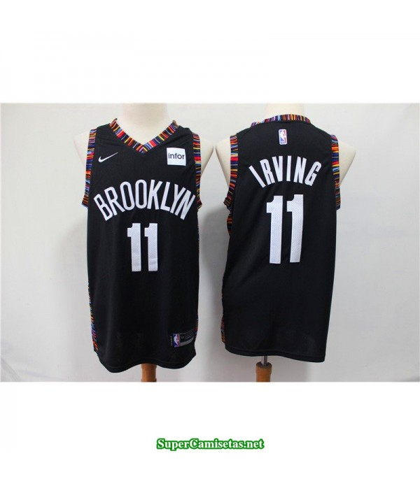 Camiseta Nets Brooklyn Irving 11 negra