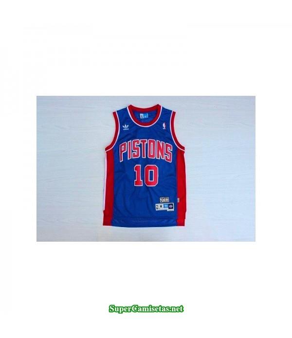 Camiseta Rodman 10 azul Detroit Pistons