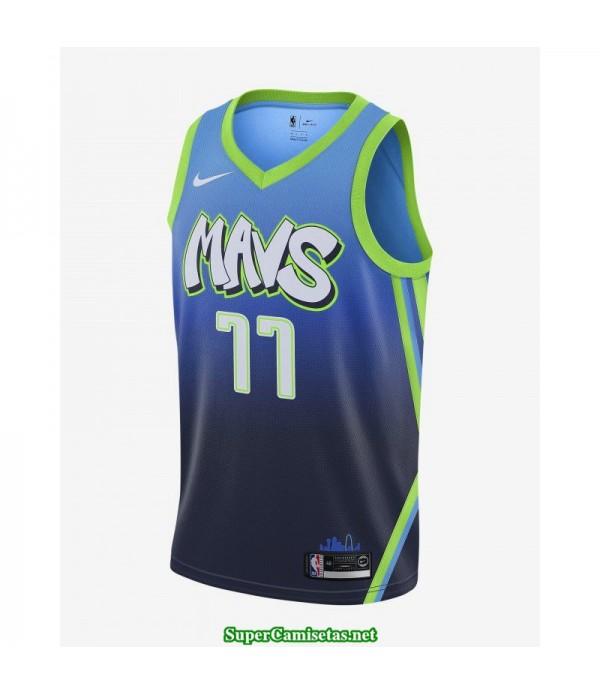 Camiseta nba Dallas Mavericks Doncic 77 azul verde