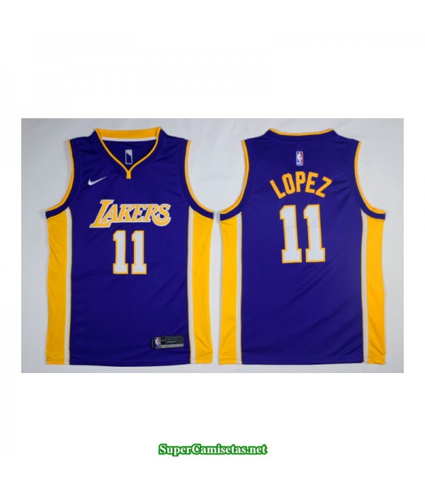 Camiseta Lopez 11 morada Angeles Lakers