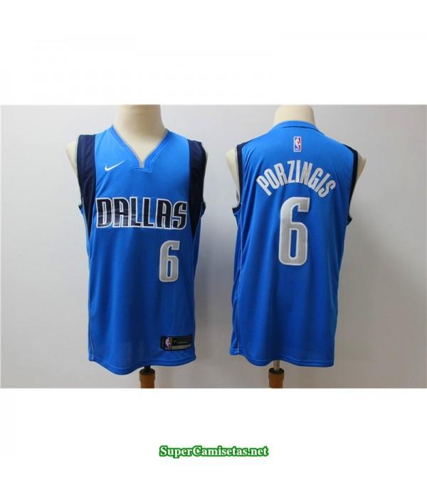 Camiseta NBA Dallas Mavericks Porzingis 6 azul