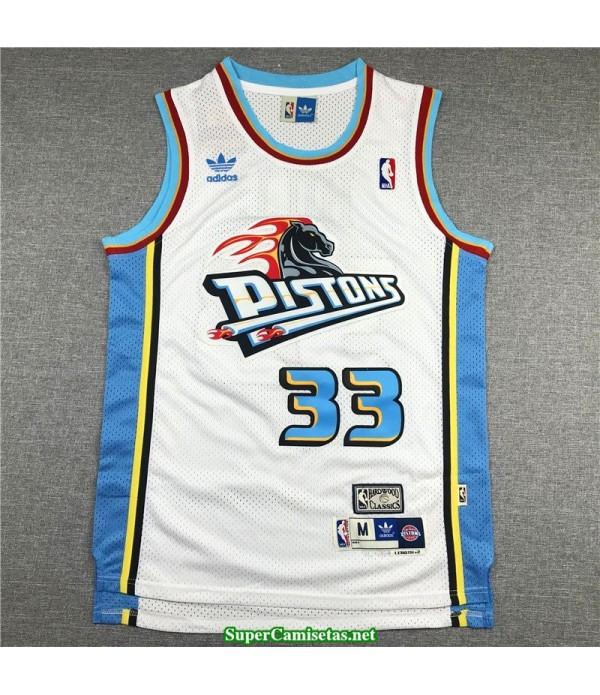 Camiseta Hill 33 blanca Detroit Pistons hardwood