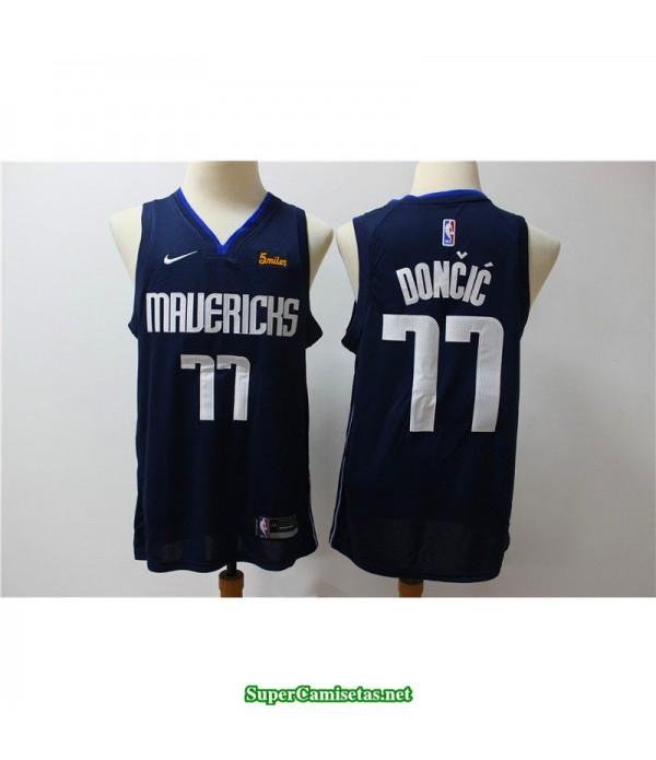 Camiseta nba 2020 Dallas Mavericks Doncic 77 azul