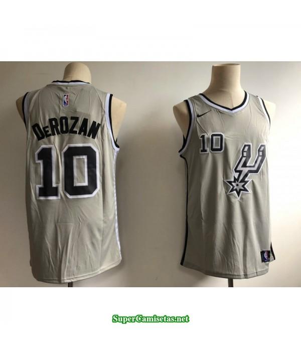 Camiseta Derozan 10 gris San Antonio Spurs 2018