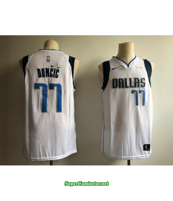 Camiseta nba Dallas Mavericks Doncic 77 blanca