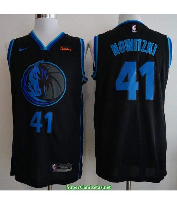 Camiseta nba Dallas Mavericks Nowitzki 41 azul-negral 2019