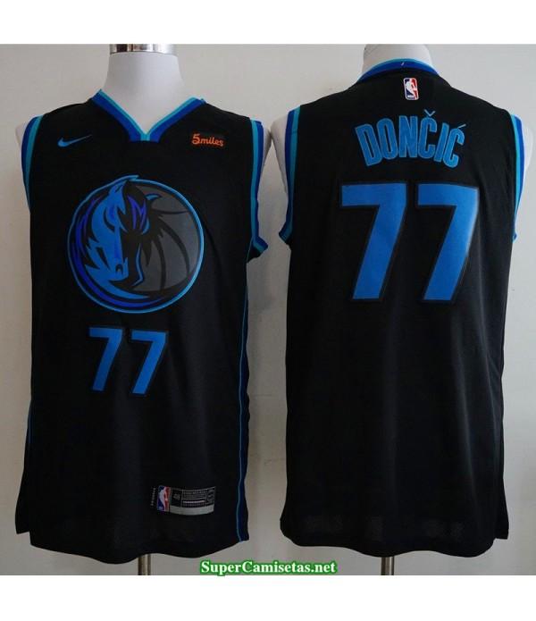 Camiseta nba Dallas Mavericks Doncic 77 azul negra 2019