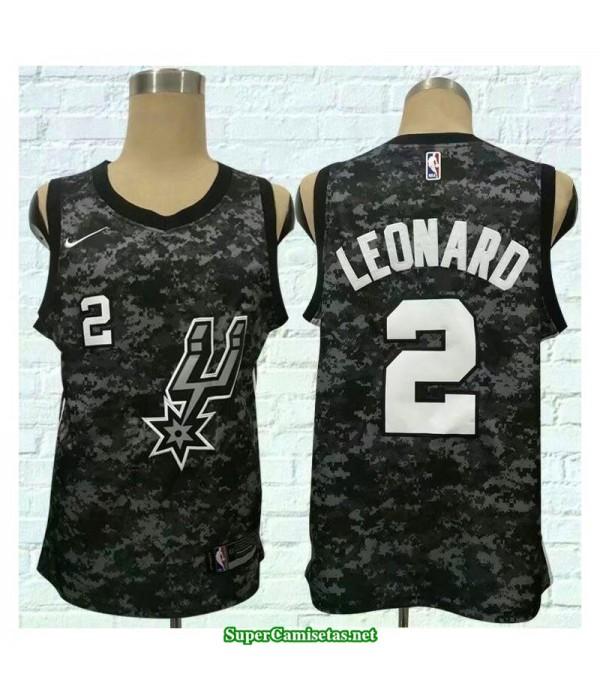 Camiseta 2018 Leornard 2 camuflaje San Antonio Spurs