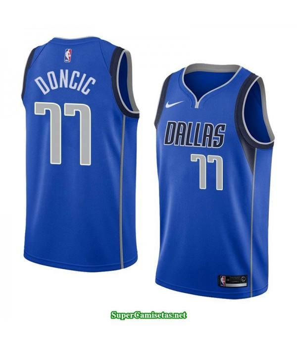Camiseta nba Dallas Mavericks Doncic 77 azul