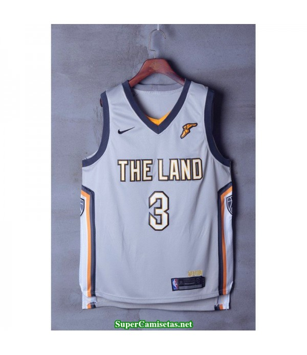 Camiseta Thomas 3 blanca Cleveland Cavaliers 2018 THE LAND