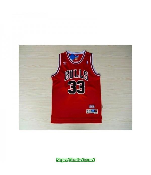 Camiseta Pipen 33 Chicago Bulls roja