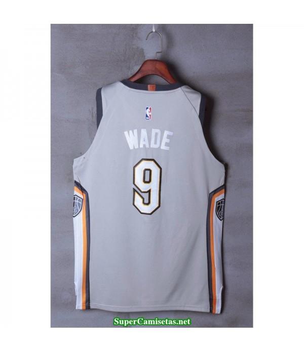 Camiseta Wade 9 blanca Cleveland Cavaliers 2018 THE LAND