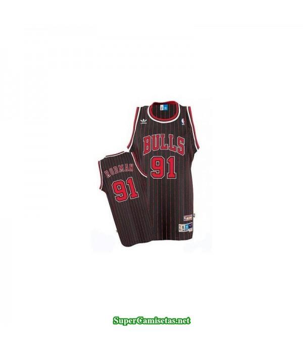 Camiseta Rodman 91 clasica rayas Chicago Bulls