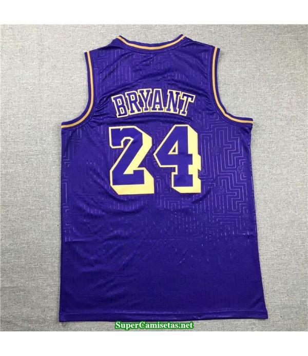 Camiseta nba Kobe Bryant 24 stripes Angeles Lakers Mamba