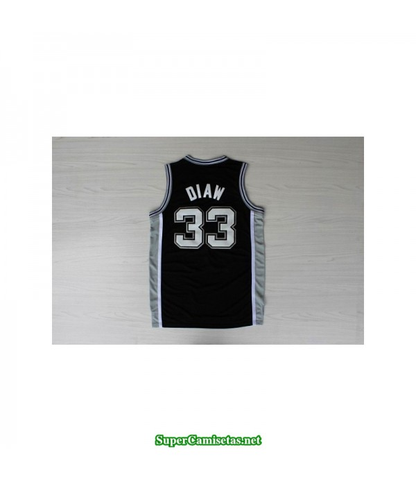 Camiseta Diaw 33 negra San Antonio Spurs