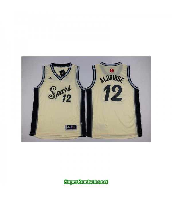 Camiseta Aldridge 12 blanca San Antonio Spurs