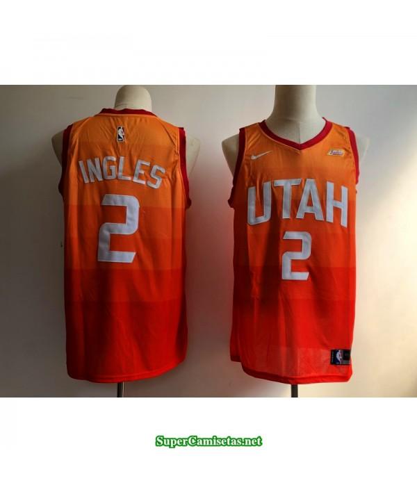 Camiseta Ingles 2 naranja Utah Jazz
