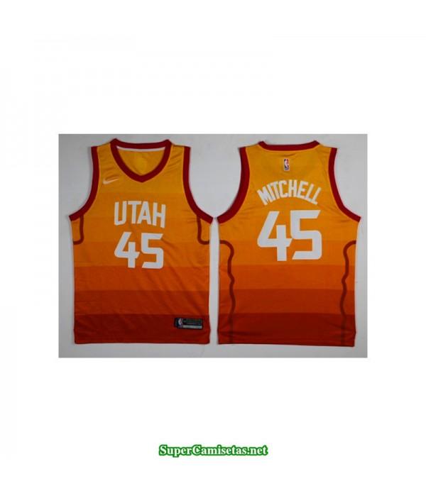Camiseta 2018 Mitchell 45 naranja Utah Jazz