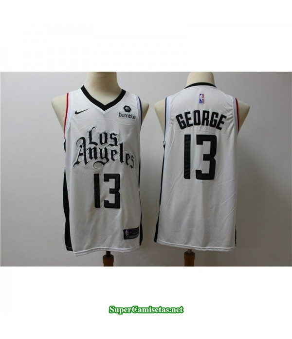 Camiseta 2020 George 13 blanca Angeles Clippers b