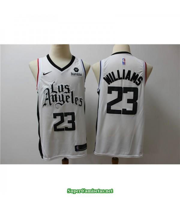 Camiseta 2020 Williams 23 blanca Angeles Clippers b