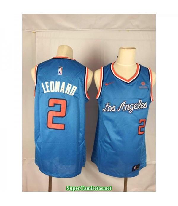 Camiseta 2020 Leonard 2 azul Angeles Clippers