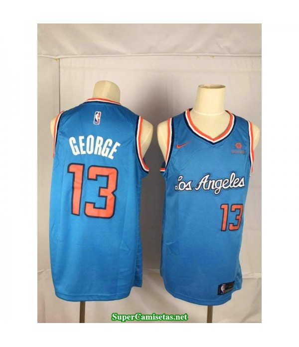 Camiseta 2020 George 13 azul Angeles Clippers
