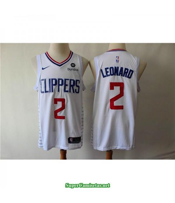 Camiseta 2019 Leonard 2 blanca Angeles Clippers