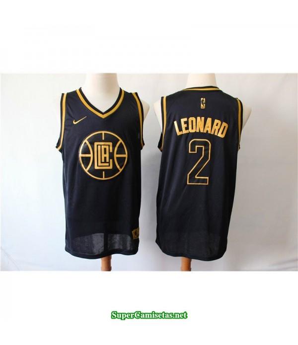 Camiseta 2019 Leonard 2 negra Angeles Clippers
