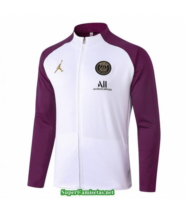 Tailandia Camiseta Jordan Veste Blanco/púrpura 2020