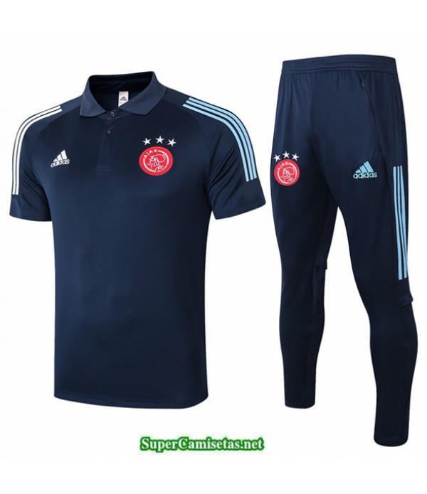 Tailandia Camiseta Kit De Entrenamiento Afc Ajax Polo Azul Oscuro 2020