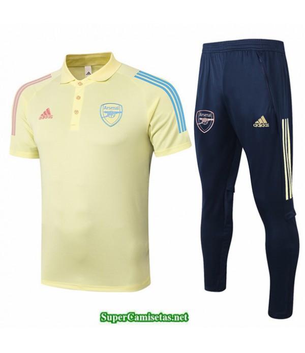 Tailandia Camiseta Kit De Entrenamiento Arsenal Polo Amarillo 2020