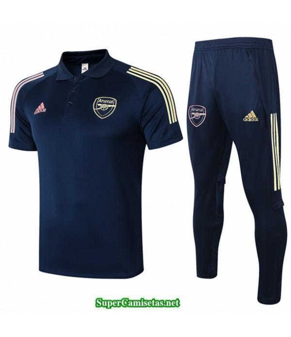 Tailandia Camiseta Kit De Entrenamiento Arsenal Polo Azul Oscuro 2020