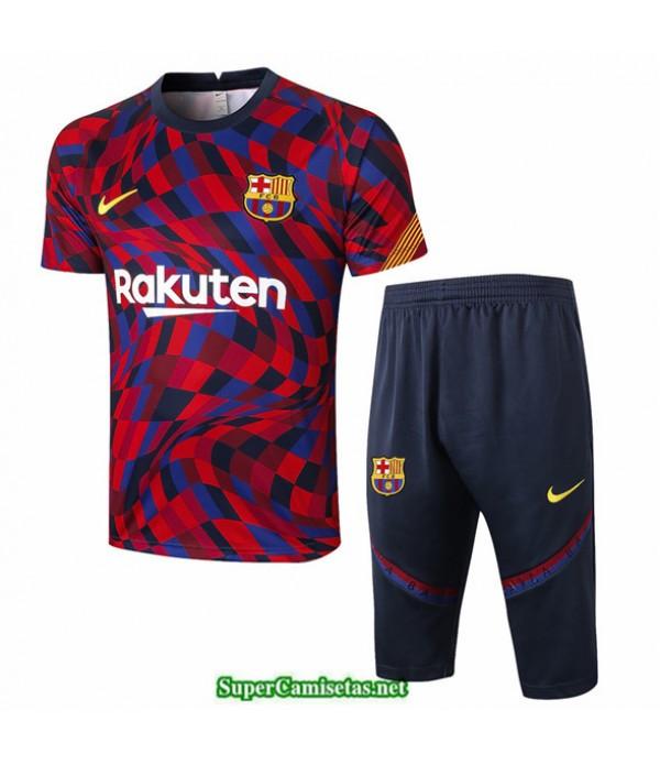 Tailandia Camiseta Kit De Entrenamiento Barcelona 3/4 Púrpura/rojo Rayos 2020