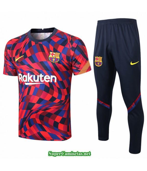 Tailandia Camiseta Kit De Entrenamiento Barcelona Púrpura/rojo Rayos 2020
