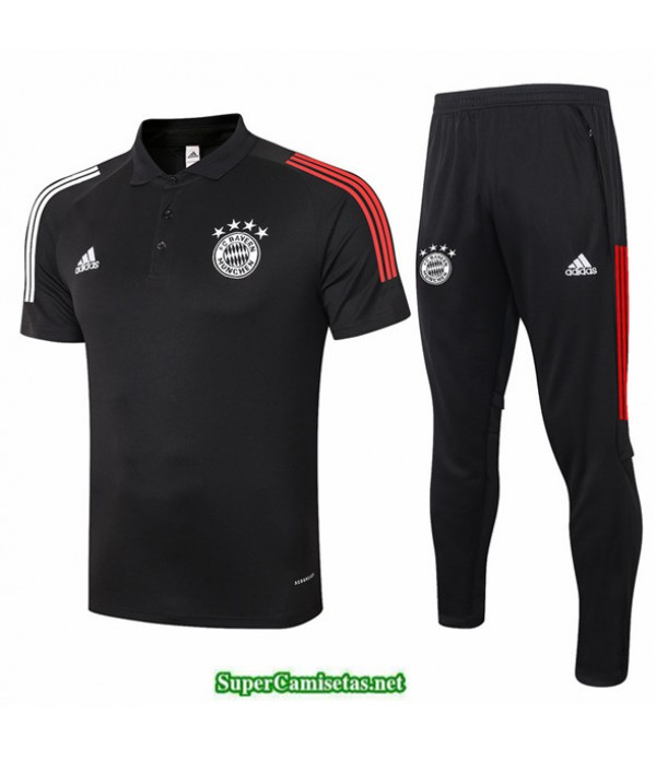 Tailandia Camiseta Kit De Entrenamiento Bayern Munich Polo Negro 2020