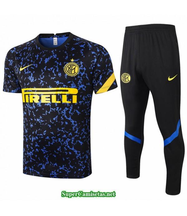 Tailandia Camiseta Kit De Entrenamiento Inter Milan Azul Rayos 2020