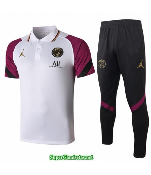 Tailandia Camiseta Kit De Entrenamiento Jordan Polo Blanco/púrpura 2020