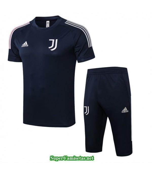 Tailandia Camiseta Kit De Entrenamiento Juventus 3/4 Azul Oscuro 2020