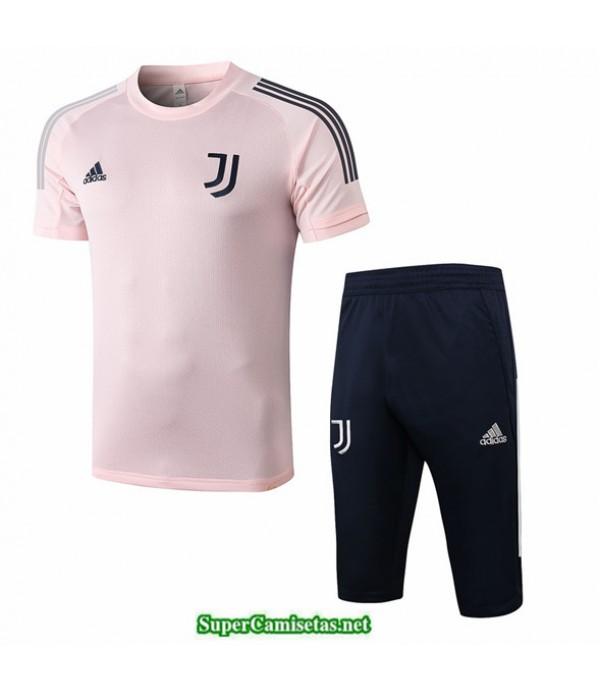 Tailandia Camiseta Kit De Entrenamiento Juventus 3/4 Rosa 2020