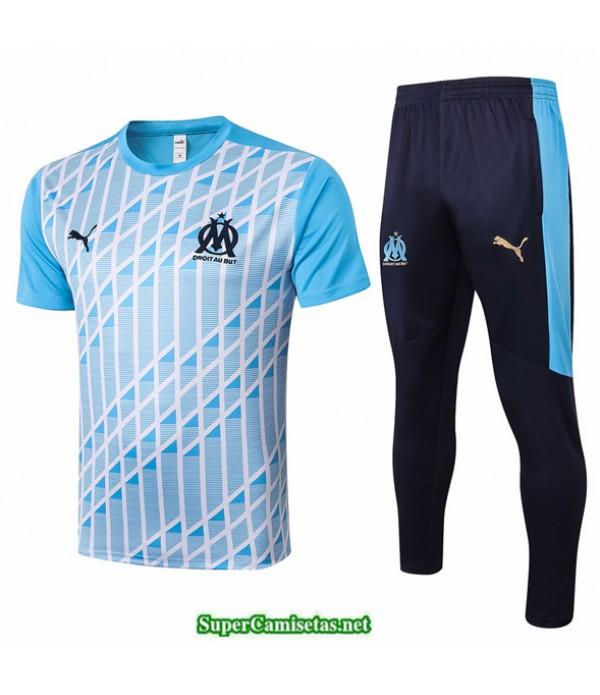 Tailandia Camiseta Kit De Entrenamiento Marsella Azul Claro 2020