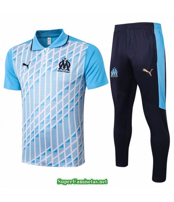 Tailandia Camiseta Kit De Entrenamiento Marsella Polo Azul Claro 2020