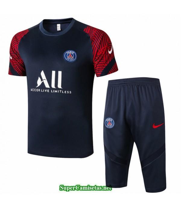 Tailandia Camiseta Kit De Entrenamiento Psg 3/4 Azul Oscuro/rojo 2020