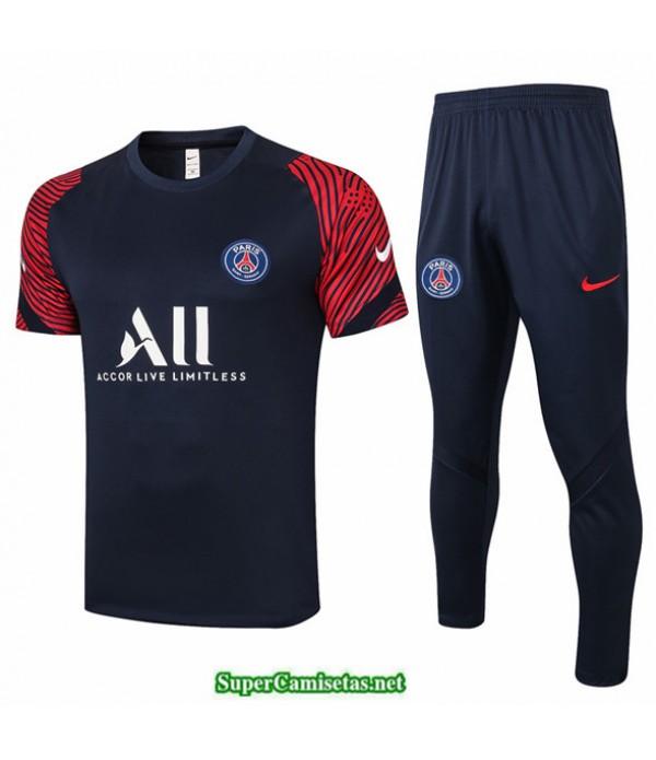 Tailandia Camiseta Kit De Entrenamiento Psg Azul Oscuro Rojo 2020