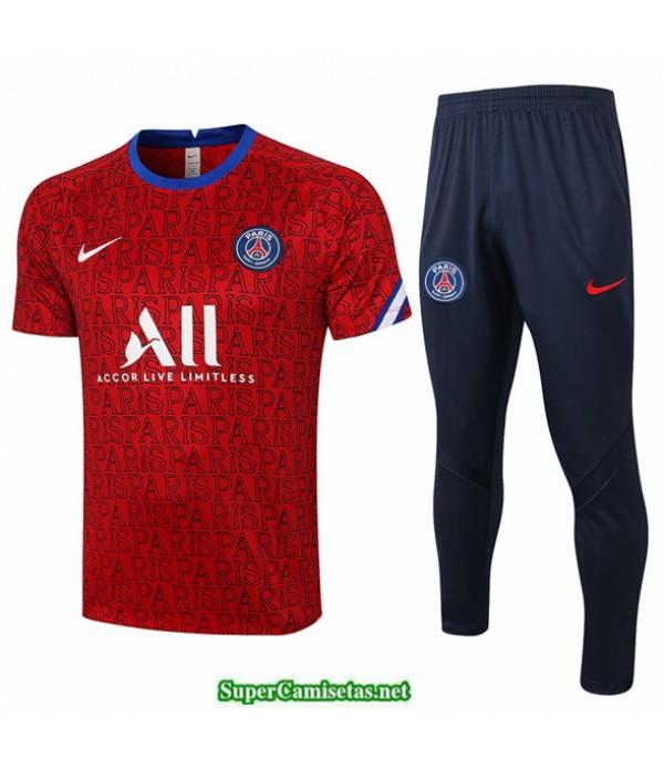 Tailandia Camiseta Kit De Entrenamiento Psg Rojo Paris 2020